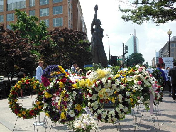 華盛頓DC「共產主義受害者紀念碑」落成6週年紀念活動現場(攝影:李辰/大紀元)