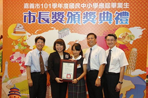 """才华出众获""""五冠王""""的凃兆莲,表示深深感受到台湾自由、多元的丰富文化。 (嘉义市政府提供)"""