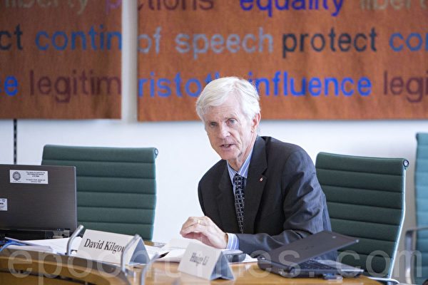 乔高在报告中列举了一系列国际社会的作法。(摄影:Simon Gross/大纪元)