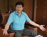 韩国WELVA智能吸尘器的发明人、WELVA智能吸尘器会社代表金光男。(摄影:金嘉英/大纪元)