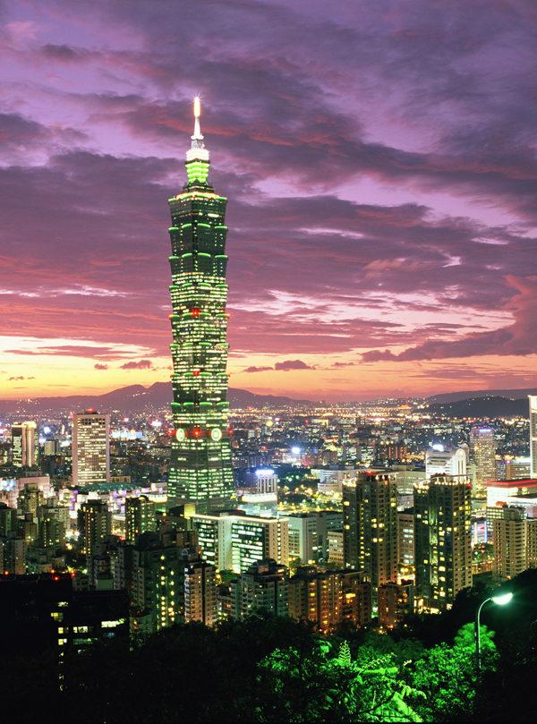 「台北101」樓高508公尺,從2004年12月至2010年1月間,為「世界第一高樓」。(紐約經文處提供)