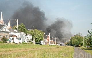 加拿大油罐车小镇中心爆炸 上千人疏散
