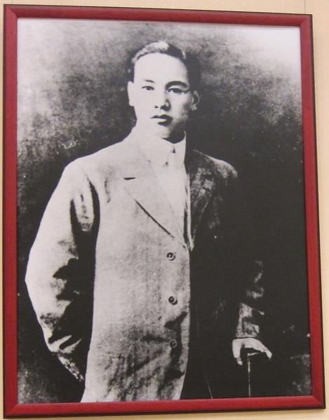 蒋公于1912年参加辛亥革命时之留影。(中正纪念堂)。(摄影:钟元翻摄/大纪元)