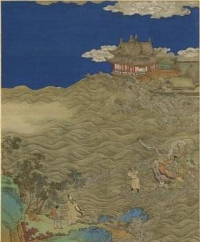 《孫思邈救蛟得仙圖》,台北國立故宮博物院藏。(公有領域)