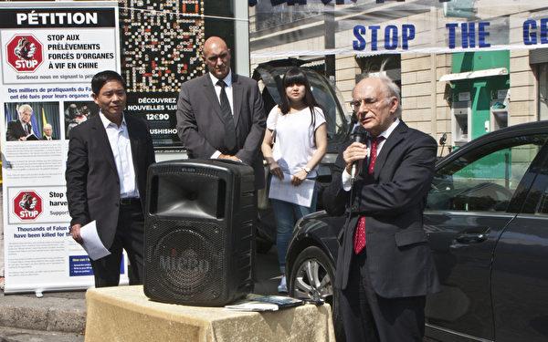 加拿大著名人權律師大衛·麥塔斯(David Matas)也親臨現場演講,他說:「我此次前來,主要是為了揭露和反對(中共)活摘法輪功學員器官。」(攝影:關宇寧/大紀元)