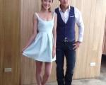 藝人林佑威(右)、王凱蒂正式加盟新東家成為同門。(圖/朵拉瑪提供)