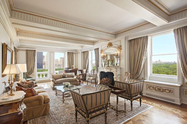 俯瞰中央公园的超大客厅,可接待最尊贵的客人。(图/Lisa Siomonsen提供)