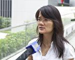 胡麗雲譴責中共打壓新聞自由。(攝影:余鋼/大紀元)