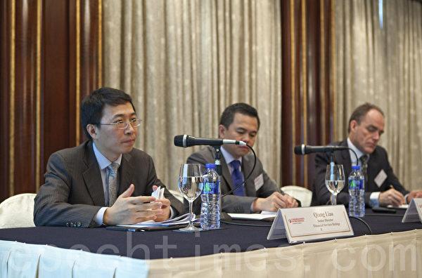 标准普尔第二年发表针对中国50家银行的年度调查报告。(余钢/大纪元)
