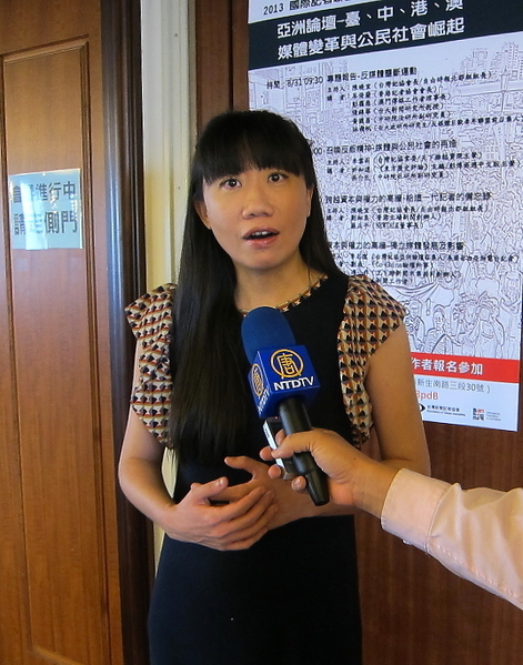台湾记者协会会长陈晓宜。(钟元/大纪元)