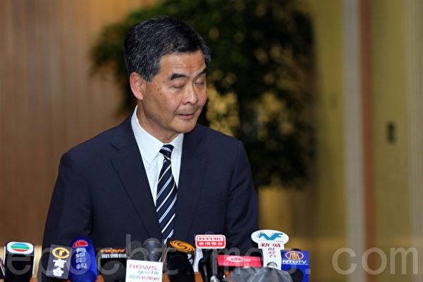 行政长官梁振英上台后,香港日益赤化和黑帮化。(潘在殊/大纪元)