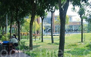 JTT林荫下是郭正明的招待所,欢迎来泡茶消暑,享受自然凉风。(摄影:赖友容/大纪元)