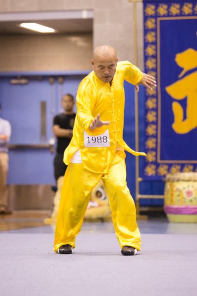 """新唐人第四届""""全世界华人武术大赛""""来自台湾的苏锡龙获得男子拳术组的银奖。(爱德华/大纪元)"""