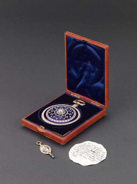 清宮舊藏 乾隆時期 鍍金鑲珍珠寶石西洋懷錶。(頑石創意提供)