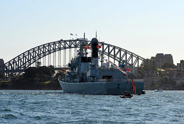 澳洲皇家海軍100年慶典,17個國家的20多艘戰艦分別駛入悉尼港(攝影/Getty Images)