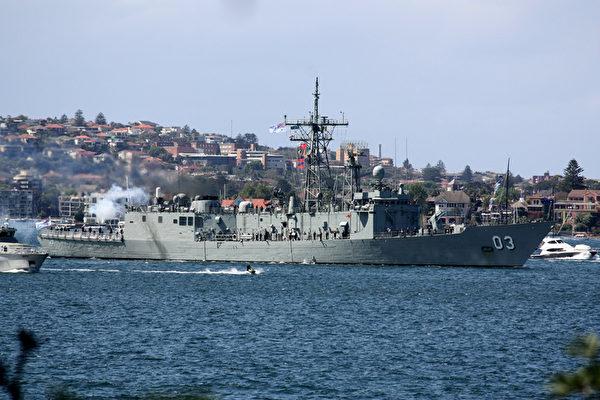 澳洲皇家海軍100年慶典,悉尼號鳴炮儀式(攝影:何蔚/大紀元)
