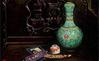组图:艺术家李惠芳油画展在台精致开展