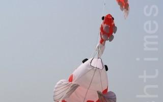 組圖:國際風箏節 臺灣苗栗「九降風」風箏樂