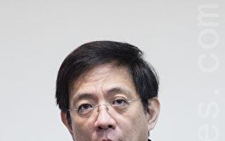 經建會主委管中閔28日表示,他比較擔憂近期發生的食安問題對民間消費的衝擊。(陳柏州/大紀元)