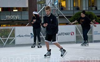 联合广场溜冰场开放 旧金山假日季开始