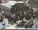 韓國一架民營直升機日前撞上首爾一棟公寓,導致機上兩名機師全部罹難。(YONHAP / AFP)