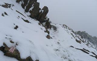 合歡初見小雪  玉山7.5公分