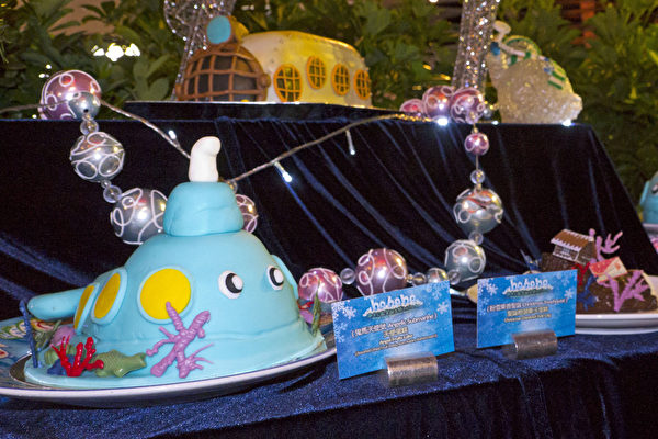 今年海洋公园推出梦幻海底世界迎接圣诞节,独创多款以海洋为主题的圣诞美食(林怡/大纪元)