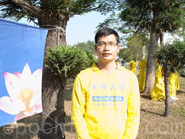 參與2013年台灣排字活動的越南學員吳春山。(黃捷瑄/大紀元)