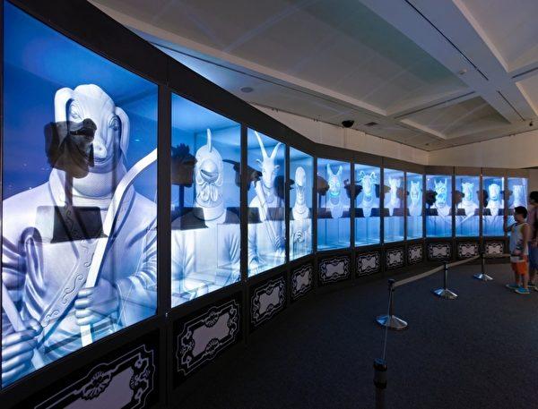 """""""高科技12兽首声光剧场""""让实体文物与虚拟动画完美结合。(顽石创意提供)"""