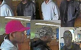 """""""新帽""""强盗抢劫南加五银行 被录像"""