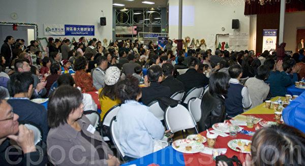 希望之声10周年台庆晚会吸引了200多位听众嘉宾到场。(曹景哲/大纪元)