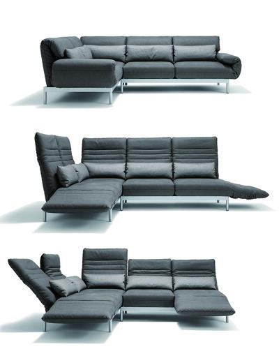 羅浮賓士PLURA沙發設計獨到特別,伸縮自如,猶如有三頭六臂,又有多種顏色材料,可輕鬆變身為您想要的獨特一款!(圖: atelier提供)
