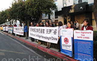人权日 洛杉矶抗议中共活摘器官