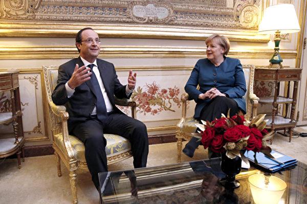 法德友誼  默克爾連任首訪巴黎