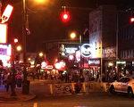 孟菲斯市酒吧連成行的Beale街。 (大紀元)