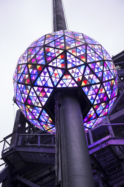 紐約新年水晶球準備就緒,進行最後的測試。(戴兵/大紀元)