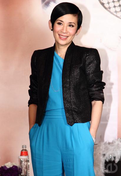 吳君如1月16號於台灣台北市出席電影《金雞sss》記者會。(丘普林/大紀元)