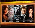 第86届奥斯卡金像奖最佳女主角入围者,左起:《美国骗局》艾米•亚当斯,《蓝色茉莉》凯特•布兰切特,《地心引力》桑德拉•布洛克,《菲洛梅娜》朱迪•丹奇,《八月:奥色治郡》梅丽尔•斯特里普。(Kevin Winter/Getty Images)
