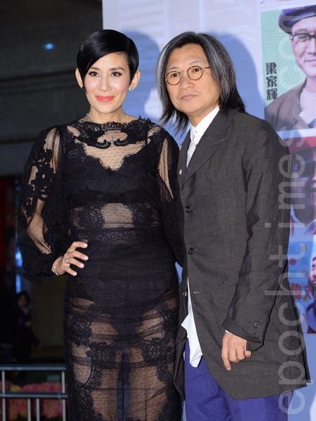 吴君如与陈可辛出席首映。(宋祥龙/大纪元)