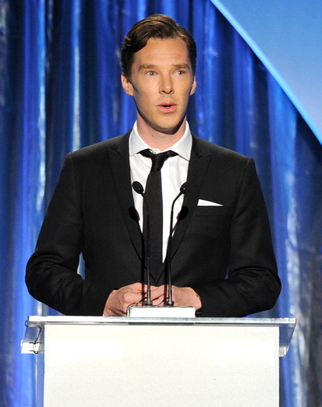 颁奖嘉宾之一、英国演员本尼迪克特•康伯巴奇(Kevin Winter/Getty Images)