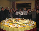 中国新年前夕,孙文广躲开国保监控,参加朋友聚会。(作者提供)