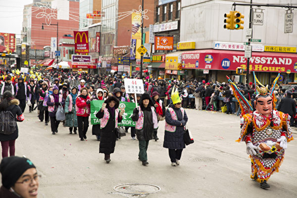 2014.02.08纽约中国新年大游行(Edward Dai/大纪元)