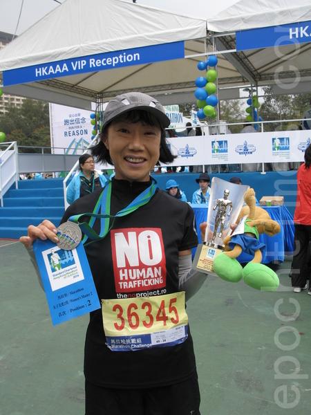 贏得女子先進2組亞軍的日本選手小川裕子。(浦慧恩/大紀元)