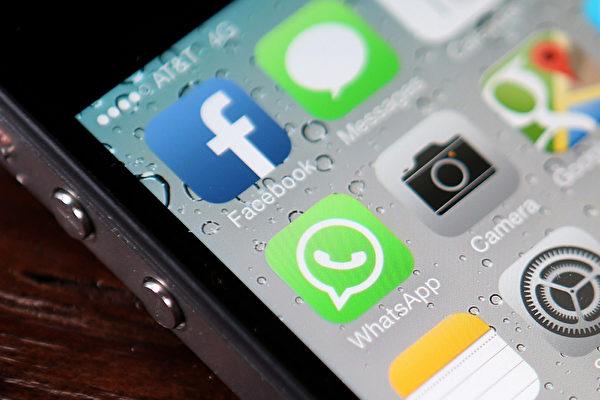 臉書(Facebook)以190億美元收購WhatsApp,旨在移動社媒領域成為主導即時短訊(messaging)平台的霸主。(Justin Sullivan/Getty Images)