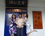 嚴藝文(中)、林嘉俐(右)、謝瓊煖同校又是演藝圈好姐妹的,最近合拍客家文學戲劇《在河左岸》。(客家台提供)