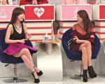 """张艾亚和艾莉丝上节目谈""""调体质""""。(超视提供)"""