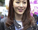 香港藝人周麗淇出席活動,宣揚有機健康生活。(余鋼/大紀元)