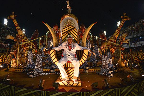 巴西里約熱內盧狂歡節遊行一景。(CHRISTOPHE SIMON/AFP)