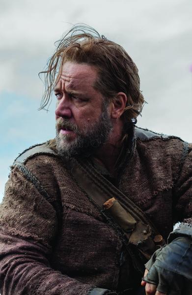 《挪亞方舟》劇照,羅素•克洛扮演的挪亞滄桑而具爆發力。(UIP提供)