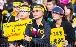 组图:台湾50万人上街反两岸服贸协议(二)